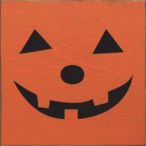Jack o' Lantern Face Wood Sign