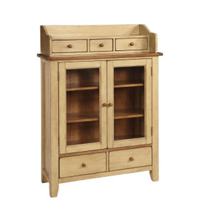 Chatham Display Cabinet Pecan & Almond Finish