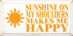 CUSTOM Sunshine On My Shoulders... 9x18