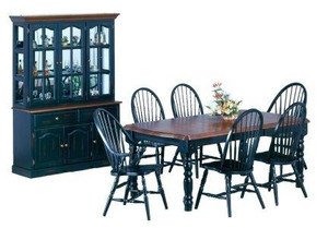 """Solid Birch 42"""" x 60""""  Table with 4 Windsor Chairs"""