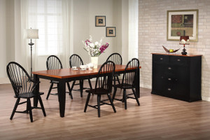 Urban Country Two Tone  Dining Set  Solid Birch