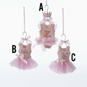 Baby Dress Ornament 3 Assorted