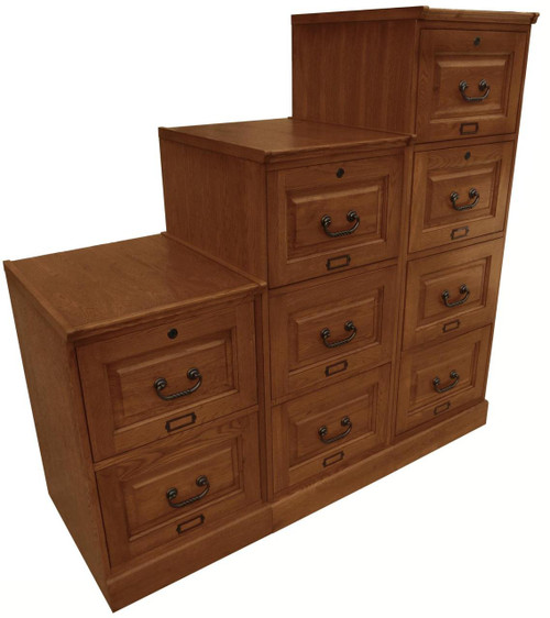 oak four drawer file solid wood file cabinet
