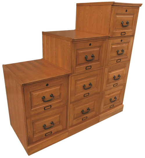 birch three drawer file cabinet antique cherry. Black Bedroom Furniture Sets. Home Design Ideas
