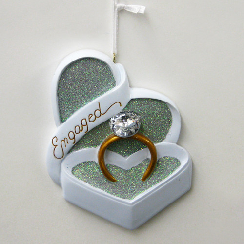 engagement ornament engaged ornament engagement ring ornament diamond ring ornament custom ornament