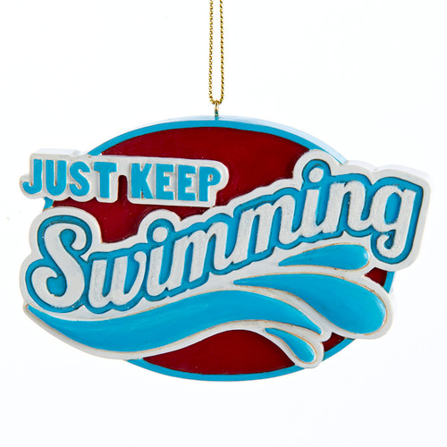 Just Keep Swimming Personalized Ornament