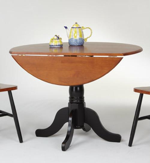 "Solid Birch 42"" Round Dropleaf Table Pedestal Base"