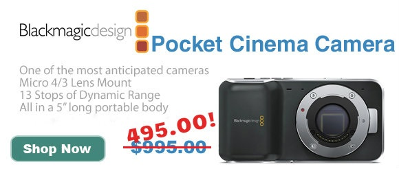Blackmagic Design New Price Pocket Cinema Camera