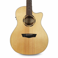 Washburn WLO20SCE Woodline Series Acoustic-Electric Guitar in Natural