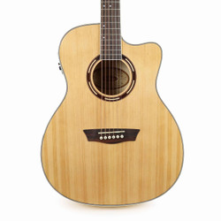 Washburn AG40CE Grand Auditorium Acoustic-Electric Guitar with Case