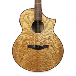 Ibanez AEW40AS AEW Series Figured Ash Acoustic-Electric Guitar in Natural High Gloss