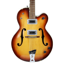 1966 Gretsch Anniversary Electric Hollowbody Guitar in Two Tone Tan Sunburst Finish