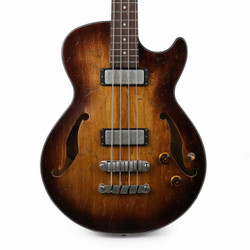 Ibanez AGBV200ATCL Artcore Semi-Hollow Body Bass in Tobacco Burst Low Gloss