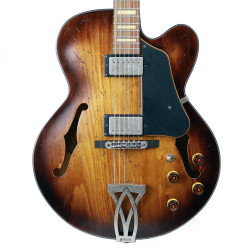 Ibanez AFV10A Artcore Vintage Semi-Hollow Body Electric Guitar in Tobacco Burst Low Gloss