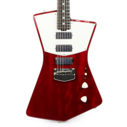 Music Man St. Vincent Signature with Smoky Ebony Fretboard in Trans Red - One of a Kind