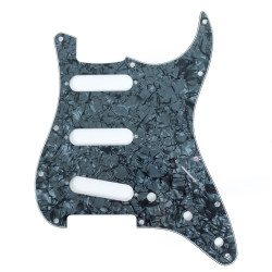 Fender Modern Stratocaster 11-Hole 4-Ply SSS Black Pearl Moto Replacement Pickguard