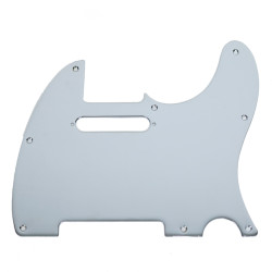 Fender Modern Telecaster 8-Hole Single-Ply Chrome Plated Brass Replacement Pickguard