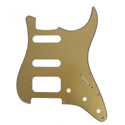 Fender Modern HSS Stratocaster 11-Hole Single-Ply Plastic Gold Metallic Replacement Pickguard