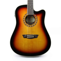 Washburn WD7SCEATB Harvest Series Acoustic Electric Guitar in Tobacco Sunburst