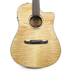 Fender T-Bucket 400ce Flame Maple Dreadnought Cutaway Acoustic-Electric in Natural