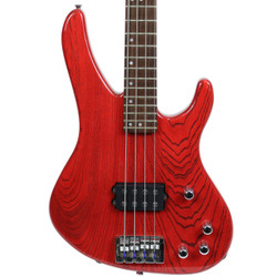 1996 USA Washburn XB900 Electric Bass Transparent Red