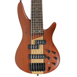 2015 Ibanez SR756 Six String Bass Natural Finish