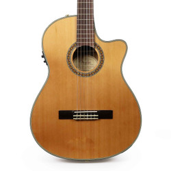 Fender CN-240SCE Thinline Cedar Classical Acoustic Electric Guitar in Natural