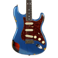 Used Fender Custom Shop Limited Edition 60's Stratocaster Heavy Relic Lake Placid Blue over 3 Tone Sunburst