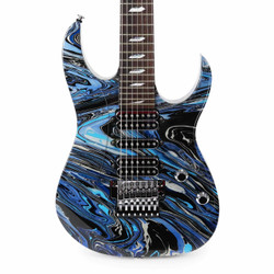 Ibanez JEM UV77SVR Steve Vai Signature 25th Anniversary Limited Edition 7-String Electric Guitar in Silver