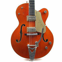 Vintage 1960 Gretsch Chet Atkins 6120 Hollowbody Electric Guitar Orange Finish