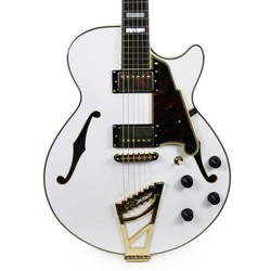 D'Angelico Excel SS Semi-Hollow Body Electric Guitar in White
