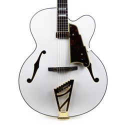 "D'Angelico Excel EXL-1 17"" Archtop Hollow Body Electric Guitar in White"