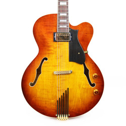 Heritage Kenny Burrell KB Groovemaster Hollow Body in Almond Sunburst