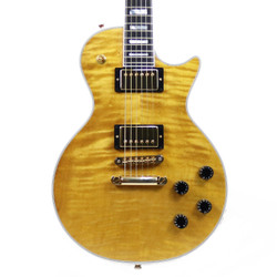 Heritage H-157 Solid Body with Carved Curly Maple Top in Antique Natural