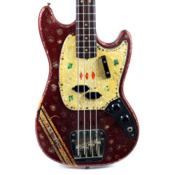 Vintage 1969 Fender Mustang Bass Competition Red