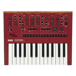 Korg Monologue Monophonic Analog Synthesizer with Presets in Red