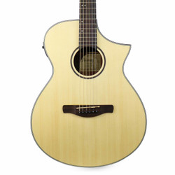 Ibanez AEWC24 Maple Burl Acoustic Electric Guitar in Natural Low Gloss