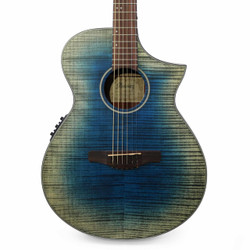 Ibanez AEWC32FM Acoustic Electric Guitar in Glacier Blue Low Gloss