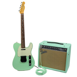2010 Fender AVRI '62 Custom Telecaster SeaFoam Green w/ Matching Super Champ X2