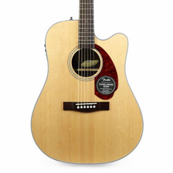 Fender CD-140SCE Spruce Dreadnought Acoustic Electric in Natural with Case