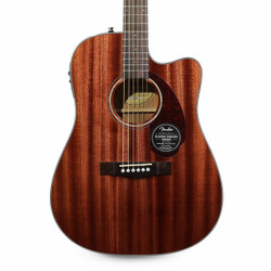 Fender CD-140SCE All-Mahogany Dreadnought Acoustic Electric in Natural with Case