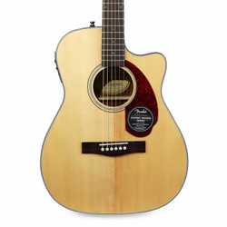 Fender CC-140SCE Spruce Concert Acoustic Electric in Natural with Case
