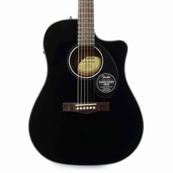 Fender CD-60SCE Dreadnought Spruce Acoustic Electric in Black