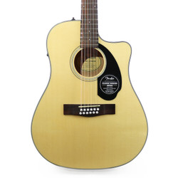 Fender CD-60SCE Dreadnought 12 String Acoustic Electric in Natural