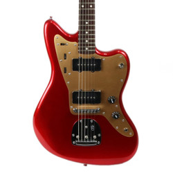 Fender Squier Deluxe Jazzmaster with Tremolo in Candy Apple Red