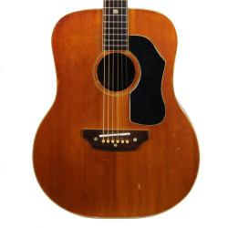 "Vintage 1960's Shelby Model S321 ""Western"" Dreadnought Acoustic Guitar Natural Finish"
