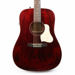 Art & Lutherie Americana Dreadnought Acoustic Electric in Tennessee Red