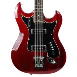 Vintage 1960's Hagstrom H-8 8-String Electric Bass Guitar Cherry Finish