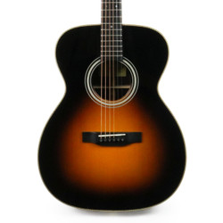Eastman E20OM-SB Orchestra Acoustic Guitar in Sunburst with Case