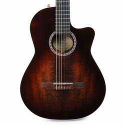 La Patrie Arena Series Pro Thinline Classical CW with Crescent II Electronics in Burnt Umber